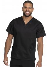 """Blouse médicale 2 poches, Homme, Dickies, Collection """"Genuine"""" (GD640) couleur noir vue face"""