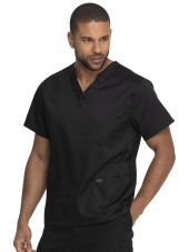 """Blouse médicale 2 poches, Homme, Dickies, Collection """"Genuine"""" (GD640) couleur noir vue gauche"""