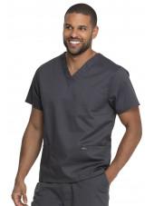 "Blouse médicale 2 poches, Homme, Dickies, Collection ""Genuine"" (GD640) couleur gris vue gauche"
