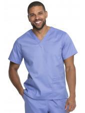 """Blouse médicale 2 poches, Homme, Dickies, Collection """"Genuine"""" (GD640) couleur bleu ciel vue face"""