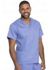"""Blouse médicale 2 poches, Homme, Dickies, Collection """"Genuine"""" (GD640) couleur bleu ciel vue droite"""