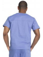 """Blouse médicale 2 poches, Homme, Dickies, Collection """"Genuine"""" (GD640) couleur bleu ciel vue dos"""