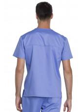 """Blouse médicale Unisexe, Dickies, Collection """"Genuine"""" (GD620) couleur bleu ciel vue dos"""