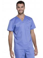 """Blouse médicale Unisexe, Dickies, Collection """"Genuine"""" (GD620) couleur bleu ciel vue face"""