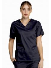"""Blouse médicale 2 poches Femme, Dickies, Collection """"Genuine"""" (GD640) couleur noir vue face"""