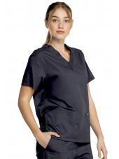 """Blouse médicale 2 poches Femme, Dickies, Collection """"Genuine"""" (GD640) couleur noir vue gauche"""