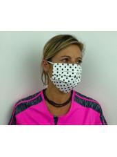 Lot 10 - Masque chirurgical de protection Unisexe motifs pois (MASQ-POIS) vue femme droite
