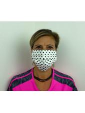 Lot 10 - Masque chirurgical de protection Unisexe motifs pois (MASQ-POIS) vue femme face