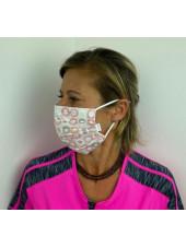 Lot 10 - Masque chirurgical de protection Unisexe motifs rond rose (MASQ-RONDROSE) vue femme 3