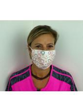 Lot 10 - Masque chirurgical de protection Unisexe motifs rond rose (MASQ-RONDROSE) vue femme 1