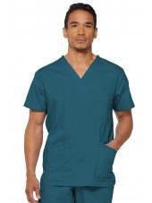 """Blouse médicale Homme, Dickies, Collection """"EDS signature"""" (81906) couleur vert caraïbe vue face"""