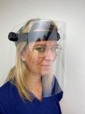 Visière de protection Grand Confort (LU2100) vue modèle face