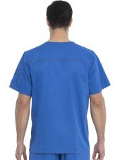 "Blouse médicale Homme Dickies, Collection ""Genflex"" (81722) bleu royal dos"