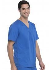 """Blouse médicale Homme Dickies, Collection """"Genflex"""" (81722) bleu royal coté"""