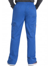 "Pantalon Médical élastique et cordon Homme, Dickies, Collection ""GenFlex"" (81003) bleu royal dos"