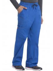 """Pantalon Médical élastique et cordon Homme, Dickies, Collection """"GenFlex"""" (81003) bleu royal droite"""