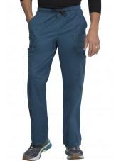 """Pantalon Médical élastique et cordon Homme, Dickies, Collection """"GenFlex"""" (81003) vert caraïbe face"""