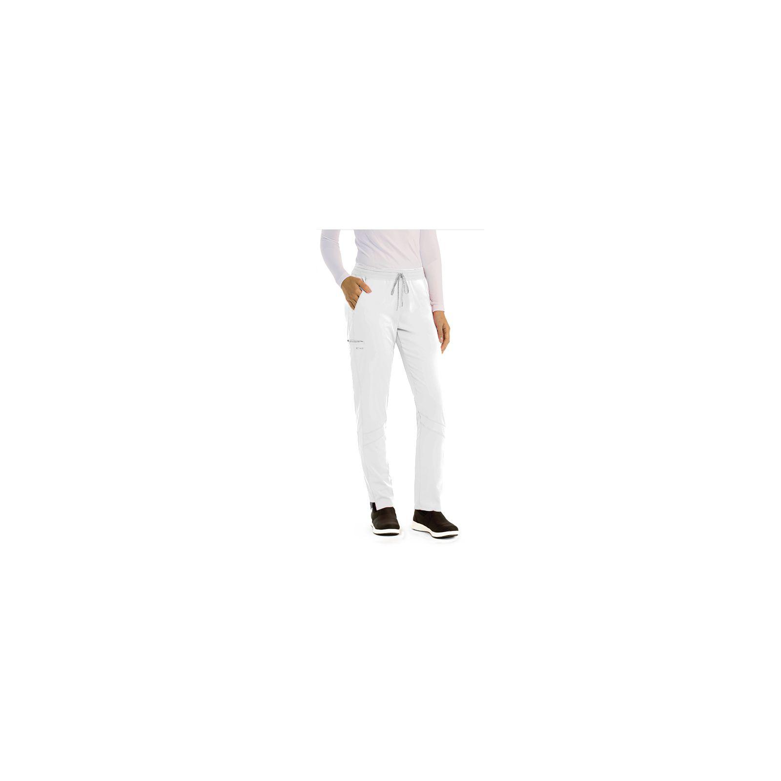 "Pantalon médical femme, collection ""Grey's Anatomy Stretch"" (GVSP509-) blanc vue coté"