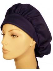 """Calot médical Cheveux Mi-Longs """"Bleu marine"""" (214-1034) vue face"""