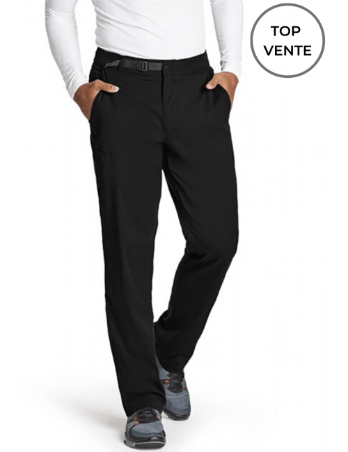 "Pantalon médical homme, collection ""Grey's Anatomy Stretch"" (GRSP507-) noir top vente"