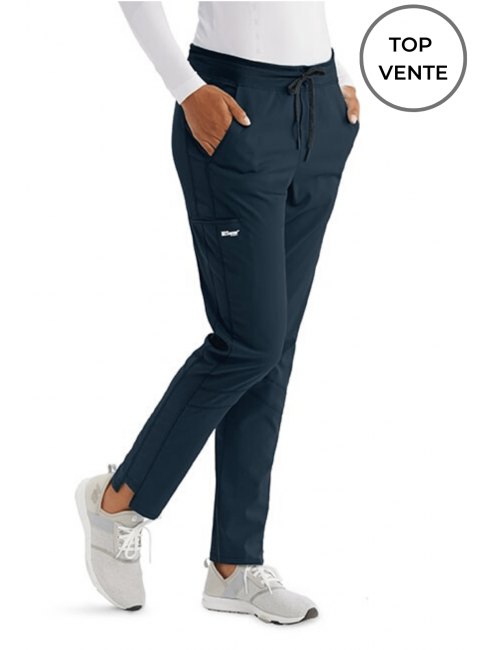 "Pantalon médical femme, collection ""Grey's Anatomy Stretch"" (GVSP509-) gris top vente"
