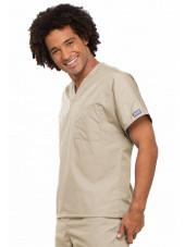 Blouse médicale Homme, Cherokee Workwear Originals (4777) beige droit