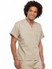 Blouse médicale Homme, Cherokee Workwear Originals (4777) beige gauche