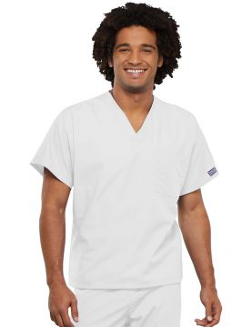 Blouse médicale unisexe, Cherokee Workwear Originals (4777) blanc face