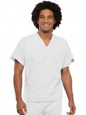 Blouse médicale Homme, Cherokee Workwear Originals (4777) blanc face