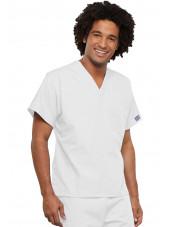 Blouse médicale Homme, Cherokee Workwear Originals (4777) blanc gauche