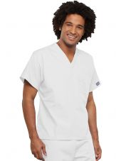 Blouse médicale unisexe, Cherokee Workwear Originals (4777) blanc gauche
