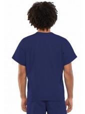 Blouse médicale unisexe, Cherokee Workwear Originals (4777) bleu marine dos