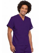 Blouse médicale Unisexe, Cherokee Workwear Originals (4777) aubergine gauche