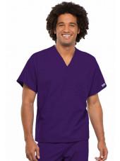 Blouse médicale Unisexe, Cherokee Workwear Originals (4777) aubergine face