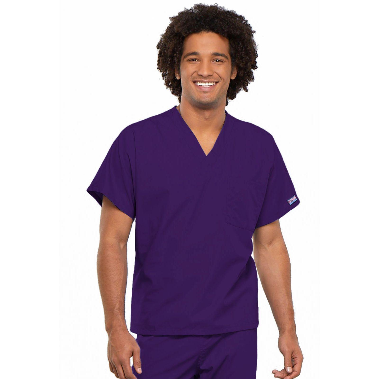Blouse médicale Homme, Cherokee Workwear Originals (4777) aubergine face