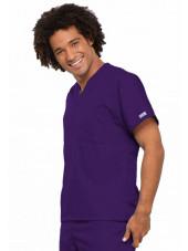 Blouse médicale Homme, Cherokee Workwear Originals (4777) aubergine droit