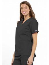 Blouse médicale Femme, 2 poches, Cherokee Workwear Originals (4700) gris gauche