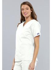 Blouse médicale Femme, 2 poches, Cherokee Workwear Originals (4700) blanc gauche