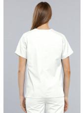 Blouse médicale Femme, 2 poches, Cherokee Workwear Originals (4700) blanc dos