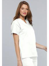Blouse médicale Femme, 2 poches, Cherokee Workwear Originals (4700) blanc droit