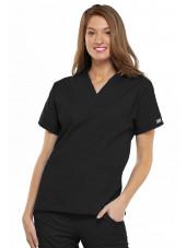 Blouse médicale Femme, 2 poches, Cherokee Workwear Originals (4700) noir face