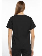 Blouse médicale Femme, 2 poches, Cherokee Workwear Originals (4700) noir dos