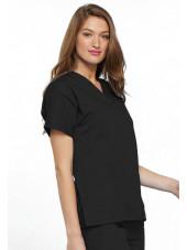 Blouse médicale Femme, 2 poches, Cherokee Workwear Originals (4700) noir droit