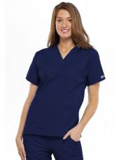 Blouse médicale Femme, 2 poches, Cherokee Workwear Originals (4700) bleu marine face