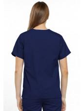 Blouse médicale Femme, 2 poches, Cherokee Workwear Originals (4700) bleu marine dos