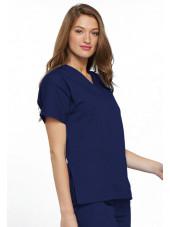 Blouse médicale Femme, 2 poches, Cherokee Workwear Originals (4700) bleu marine droit