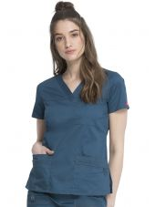 "Blouse Médicale Femme, Dickies, Collection ""GenFlex"" (817455) vert caraibe face"