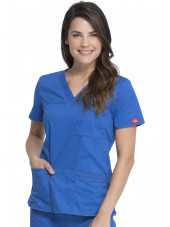 "Blouse Médicale Femme, Dickies, Collection ""GenFlex"" (817455) bleu royal face"