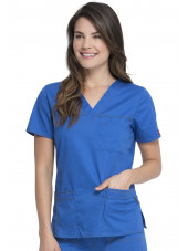 "Blouse Médicale Femme, Dickies, Collection ""GenFlex"" (817455) bleu royal droit"