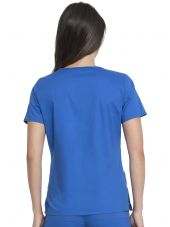 "Blouse Médicale Femme, Dickies, Collection ""GenFlex"" (817455) bleu royal dos"